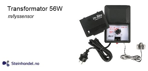 Transformator 108w m/lyssensor