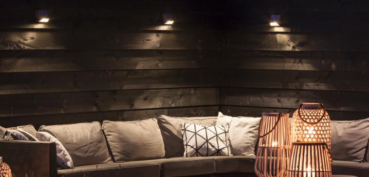 WEDGE In lite, veggmontert LED utelampe