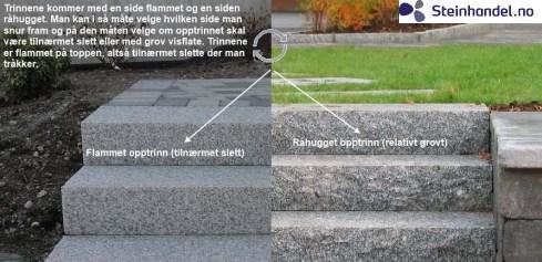 Granitt Trappetrinn 80cm