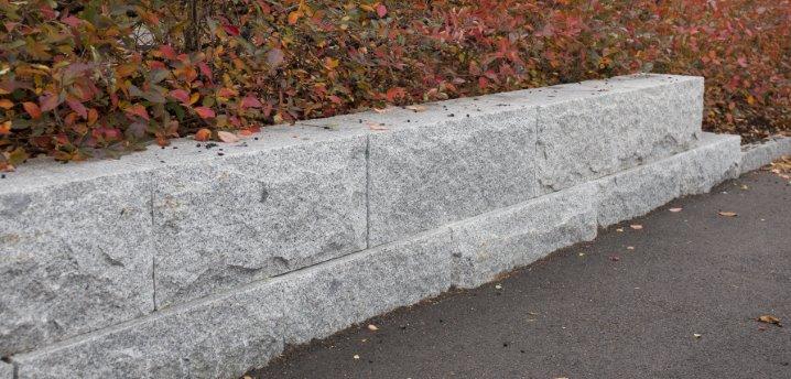 Granitt Murblokk 40x40 Kinesisk Lys Grå