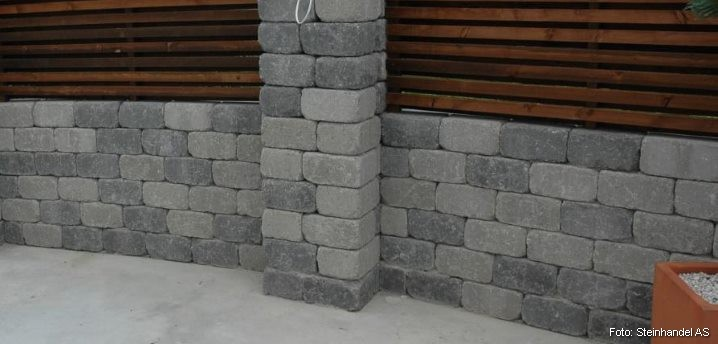 Multiblokk Kubbemur Gråmix