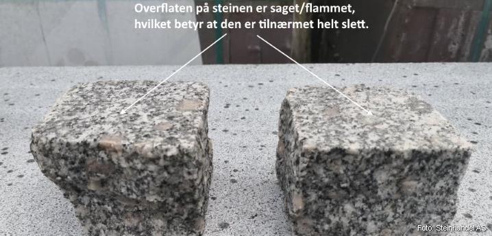 Brostein 9x9x7 Saget/Flammet Lys