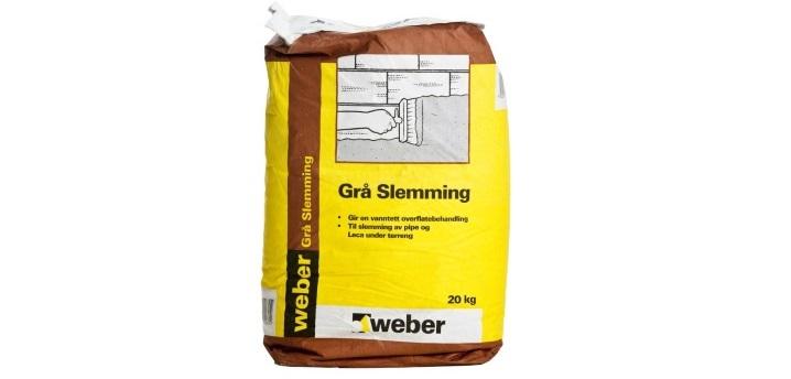 Weber Grå Slemming - 20 kg sekk