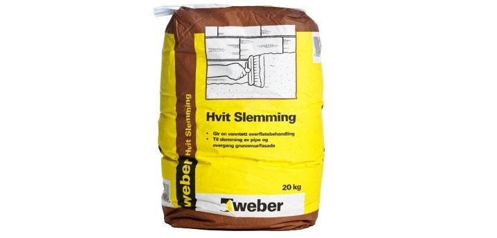 Weber Hvit Slemming - 20 kg sekk