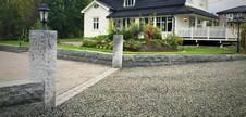 Granitt Portstolpe 30x30x200 cm