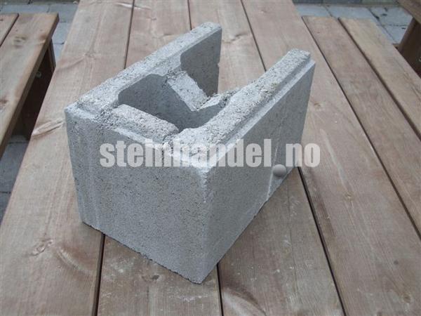 Multiblokk Forskalingsblokk, halvblokk m/ende (20 Cm bred)