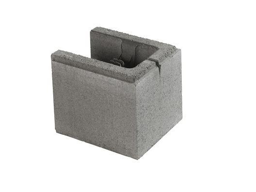 Multiblokk Forskalingsblokk, halvblokk m/ende (20cm bred)