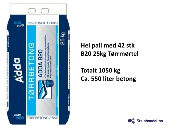 B20 Tørrbetong 1050 KG, 550L