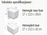Asak Herregård Mur Rødmix 1